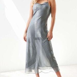 (nwot) Silence + Noise Silver Slip Dress